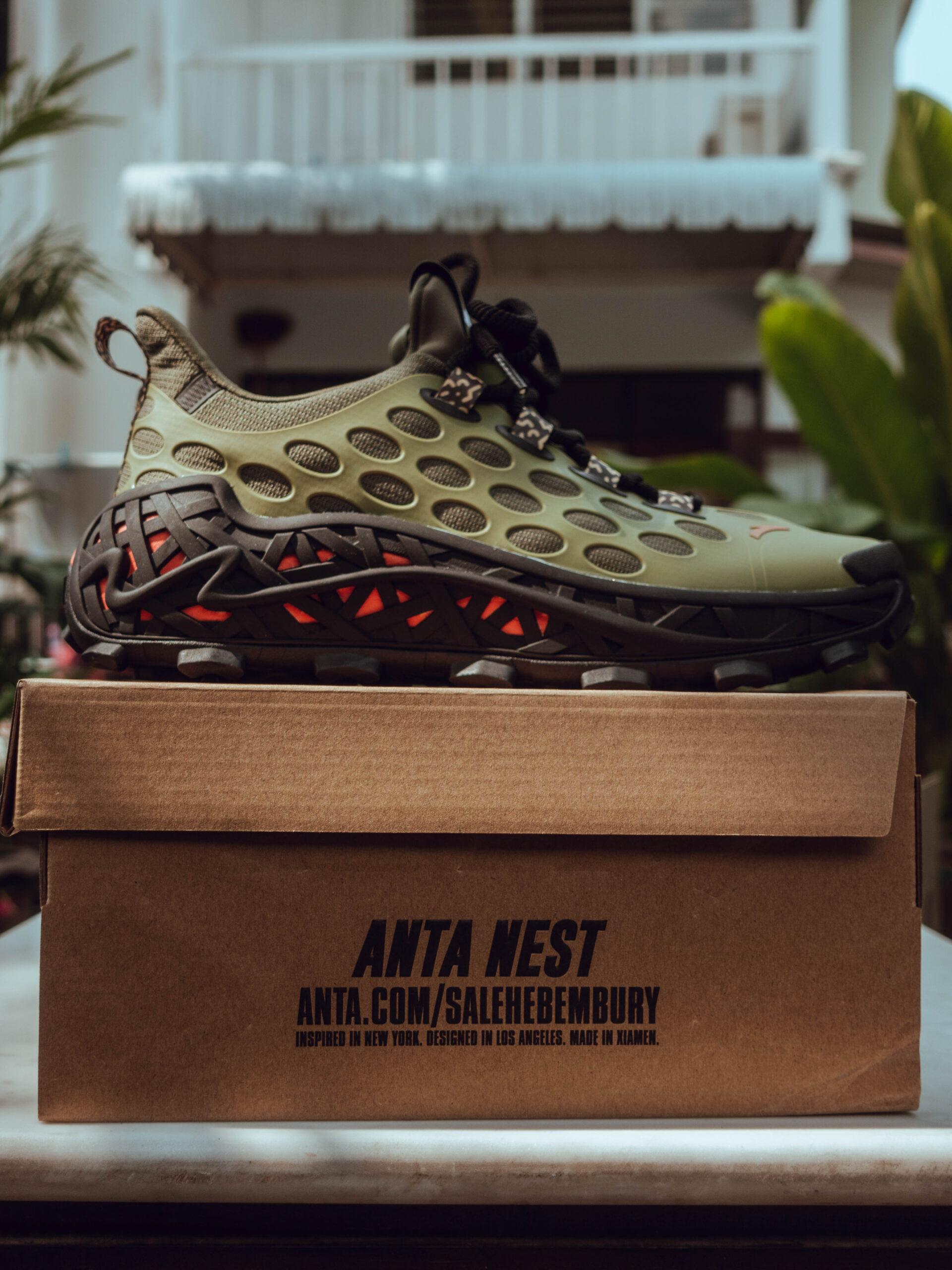 รองเท้า Anta Nest ข้อสั้น สีเขียว